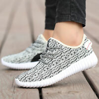 Mens Casual Sports Running Shoes Outdoor Fitness Sneaker Breathable Flyknit Boot