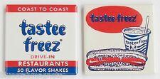 Tastee Freeze Ice Cream FRIDGE MAGNET Set (2 x 2 inches each) hot dog sign