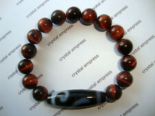 FENG SHUI - MONEY HOOK DZI WITH 10MM RED TIGER EYE