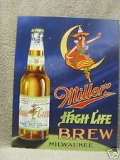 Miller High Life Vintage Look Bar Decor Tin Metal Sign New Moon