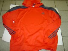 NEW MENS ADIDAS RED W/GREY BASKETBALL HOODY SWEATSHIRT SIZE M