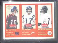 2004 Fleer Tradition Gold #351 Manning, Rivers, and Roethlisberger No 100 of 375