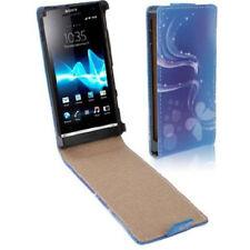 Flip Tasche für Sony xperia S / LT27i Fantasy in blau Hülle Case Schutzhülle