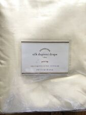 POTTERY BARN DUPIONI SILK POLE POCKET DRAPE ONE 108