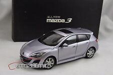 Dealer 1:18 New Mazda 3 Axela Hatchback 2009 Mk.2(Silver) Taiwan Exclusive Vers.