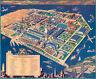 Booklovers Map of America 1939 75cm x 62.2cm High Quality Art Print
