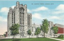 Detroit Masonic Temple Largest In The World Postcard 1930s