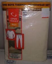 OPEN TRAILS BOYS SNUG FIT THERMAL UNDERWEAR SET 1 TOP 1 BOTTOM MEDIUM 8 A-12