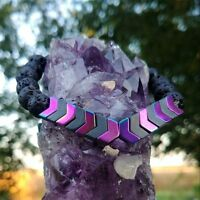 Anxiety Sacred Arrow Hematite Lava Bead Bracelet Healing Aromatherapy Mens Women