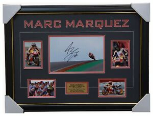 Marc Marquez Signed Repsol Honda 2018 Moto GP World Champion Photo Collage Frame