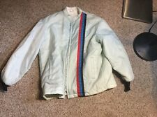 Vtg 70's  THE GREAT LAKES JACKET USA MADE Racing Stripes Fur Lined Jacket Sz M
