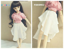 Fashion White Chiffon Irregular Skirt for BJD 1/4 MSD1/3 SD16 Doll Clothes CWB38