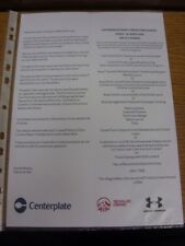 24/08/2014 Tottenham Hotspur v Queens Park Rangers - Official A4 Menu For The Pa