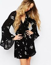 147768 Nwd $148 Free People Jasmine Embroidered Black Tunic Dress X Small XS 0