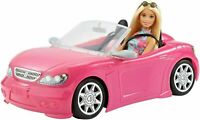 Mattel Barbie Convertible Car and Doll Playset -  Barbie Doll & Pink Glitter Car