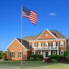 20 ft Aluminum Flag Pole Telescopic Flagpole Kit US Flag Can Fly 2 Flags HOT!⚡