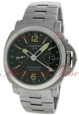 Panerai Pam00297 Luminor GMT 44mm Stainless Steel Black Dial Limited Edition 500