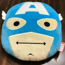 Marvel Comics Avengers Captain America Head Pillow Face Plush Cartoon
