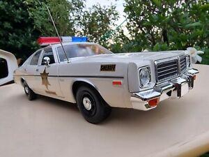 1:18 DUKES OF HAZZARD GREENLIGHT SHERIFF CAR 1975 DODGE CORONET LIMITED EDITION