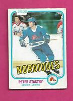 1981-82 OPC # 269 NORDIQUES PETER STASTNY ROOKIE GOOD CARD (INV# C5478)