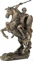 Alexander the Great on horse Greek King Warrior Bronze Statue Sculpture 31.5cm