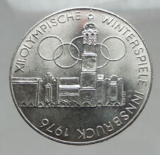 1976 Innsbruck Buildings WINTER Olympic Games AUSTRIA Large SILVER Coin i63017