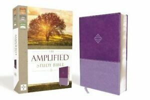 The Amplified Study Bible Leathersoft Purple by Zondervan (Leather Bound 2017)