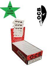 OCB courte double blanche lots de 1 à 400 carnet de feuille à rouler