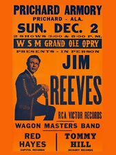 """Jim Reeves Pritchard 16"""" x 12"""" Reproduction Concert Poster Photo"""