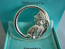 TIFFANY sterling silver ~NEW~ BABY RATTLE ~ FIREMAN HAT DALMATIAN DOG~ box,pouch