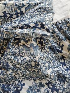 Ralph Lauren Bed Skirt Tamarind Porcelain Birds Asian Blue and WhiteQueen