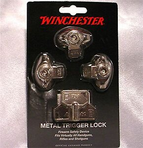 Winchester 3 Pack Rifle Shotgun Pistol Gun Trigger Locks WIN-MTL