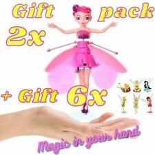 Flying Fairy Toy set of 2 + Full set of 6 Tinker Bell Figures Princess Doll Girl