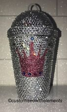Bling Crystal Rhinestone Starbucks Cold Cup/Straw 11oz SEE VIDEO