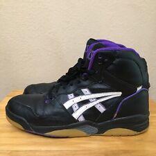 Vintage ASICS GEL Basketball Shoes SL43 Grape Purple Black Gum Grey 11 Rare 90s