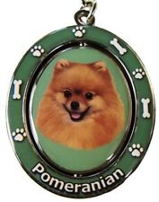 POMERANIAN Spinning Center Double Sided Key Chain by E&S Pets