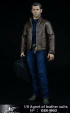 "Toy center CEN-M02 1/6 Male Leather Jacket Jeans Suit Sets /12"" Man Figure Body"