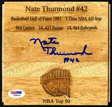 Nate Thurmond SIGNED Floorboard Golden State Warriors HOF PSA/DNA AUTOGRAPHED
