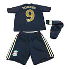 Liverpool FC 2009/10 Official Away Kit Adidas Youth 9-10 Years #9 Torres