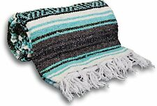 NEW Yoga Accessories Mexican Yoga Blanket  Teal Green
