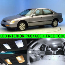 White LED Light Interior Package Kit For Honda Accord Sedan/Wagonc 1994-1997 PQ