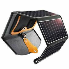 CHOETECH Solar Charger 22W Waterproof Portable Dual USB Outdoor Panel Power Bank
