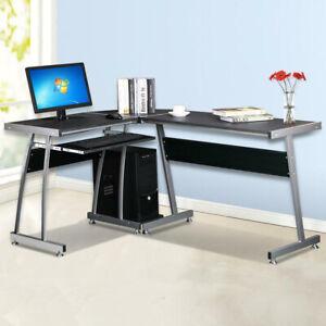 L-shaped Computer Desk Large Corner PC Table Workstation Home Office Workstation