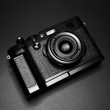 Aluminum Metal + Leather Camera Skidproof Hand Grip For   Fujifilm X100F X100T