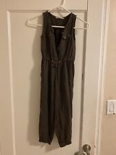 H&M Sleeveless Brown Jumpsuit Sz Girls' 6 Pre-owned