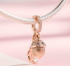 Genuine Pandora ALE R Rose Gold Acorn & Leaf Dangle Charm 788248CZ PC168