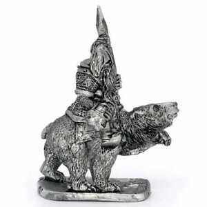 Dwarf Cavalry Champion 28mm Unpainted Metal Wargames