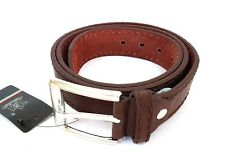 Cinta Cintura Uomo Pelle Marrone A-391 Glamour Fashion Alla Moda hac