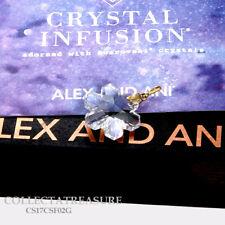 Authentic Alex and Ani Swarovski SNOWFLAKE, 14kt GP Crystal CHARM