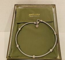 Judith Ripka Sterling Collection Silver Choker Necklace Heart Clasp NEW IN BOX